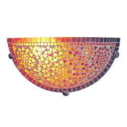 Orange Mosaic Wall Uplighter