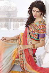 Traditional Border Work Saree