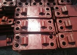 Cast Iron CI Bearing Plate, Size: 52kg And 60kg Rail