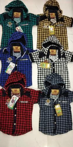 Casual Wear Check Shirts with Cap