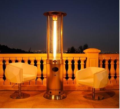 Beau Glass Tube Dancing Flame Patio Heater