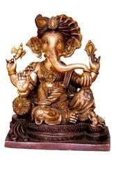 Brass Statue Of Lord Ganesh - A Indian Handmade Handicrafts For Worship