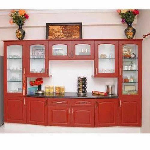 Wooden Crockery Cabinet Crockery Ikai 4s Interiors Furnitures