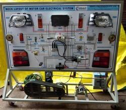 Mock Layout Of Motor Car Electrical System