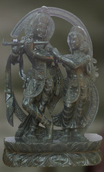 Radha & Krishna Blackstone Sculpture