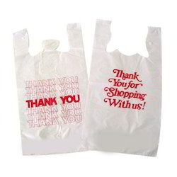 White Printed Plastic Carry Bag, For Grocery