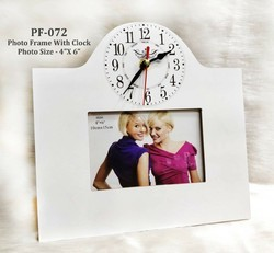 Photoframe With Clock 4 X 6