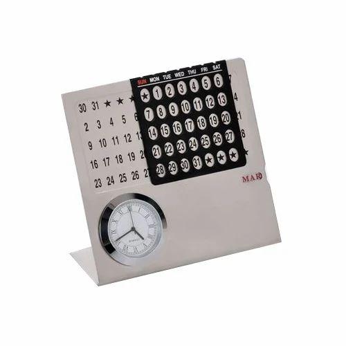steel calendar corporate gift item at rs 350 piece ड स क