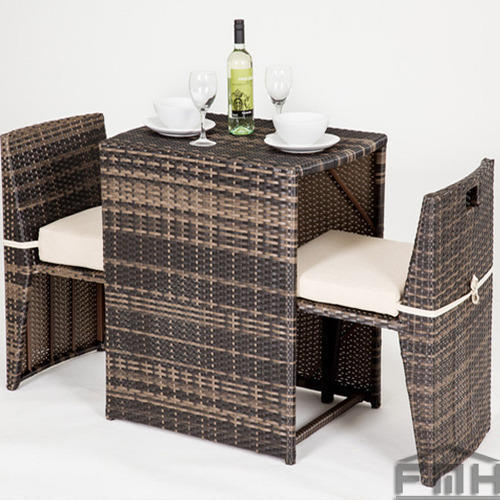 Outdoor Compact Chair Table Set
