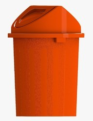 Orange Dustbin