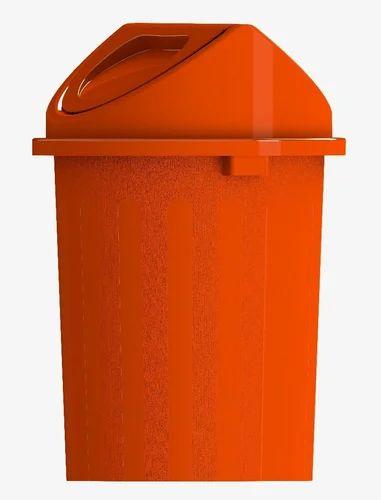 Orange Dustbin