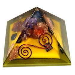 Orgone Pyramid Three Mix Crystals