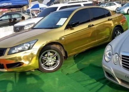 Gold Chrome Car Vinyl Wrap | Airnox | Wholesale Trader in Rohini