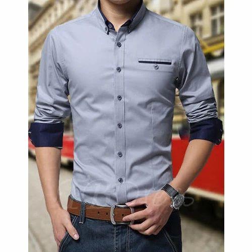 3c40504b409 Plain Mens Formal Shirt