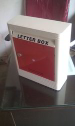 Batcha Furnitures Red and White Stainless Steel Letter Boxes
