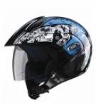 Studds Marshall Decor M Open Face Helmet D2 Blac