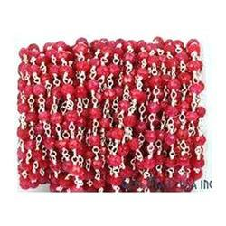 Rosary Chain - Ruby Dyed Color Corundum