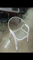 Steel White Chair