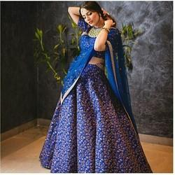 Fabzone Beautiful Designer Raw Silk Lehenga