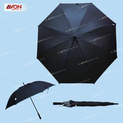 Small Check With Rfelection Tape Piping Black Color Umbrella