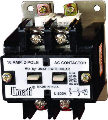 16 AMPS 2 Pole Contactor, Electric Contactor | Dka Market ...  Amp Contactor Wiring Diagram on
