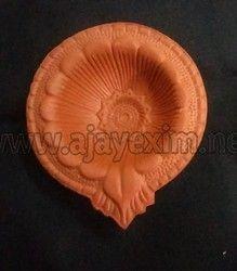 Clay Floral Diya