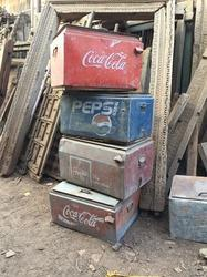 Rustic Iron Cola Box