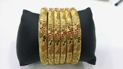 Gold Plated 6pc Bangles