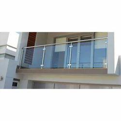 Panel SS Balcony Glass Railing