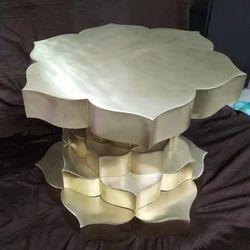 A.R.Handicraft Brass Table, Size: 24 Dia