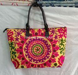Suzani Embroidered Handmade Shopping Bag
