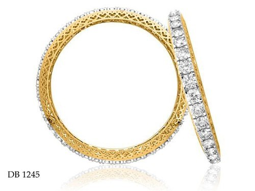 carat bangles set flexible eternity gold prong diamond bangle bracelet