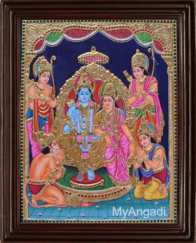 Ramar Pattabisegam Tanjore Painting