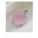 Rose Quartz Silver Necklace