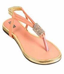 Azores Stylish Peach Flat Sandal