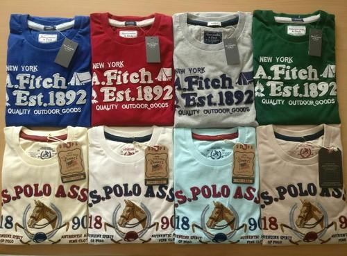 Casual Wear And Formal Wear Embroidered And Printed Abercrombie And Fitch  US Polo Round Neck T ff7b7d222e8