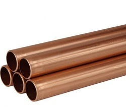 Silver Copper Pipes, For Industrial, Thickness: 2 Mm