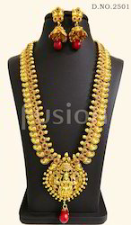 Long Haram Temple Necklace Set
