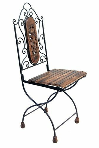 Wrought Iron Foldable Chairs For Home And Garden