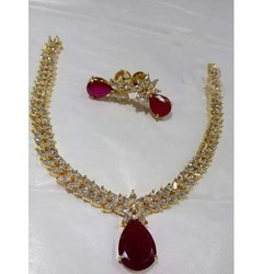 Gold Coated Kundan Necklace Set