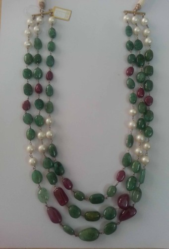 Emerald Ruby Gemstone Necklace