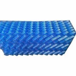 Blue Double Edge Fold PVC Eliminators