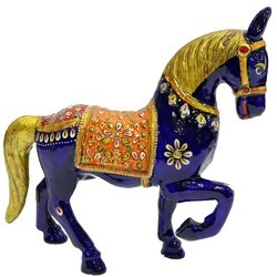 MT018 Meenakari Work Horse Running