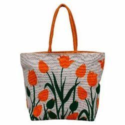Short Cotton Padded Printed Eco Friendly Shopping Bag, Capacity: 5 Kg