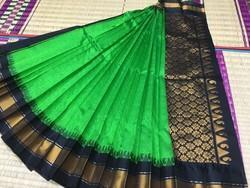 6.3 M (with Blouse Piece) Festive Wear Embossed Kuppadam Silk Cotton Saree, , With Blouse Piece