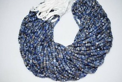 Sodalite Faceted Rondelle Beads Strand