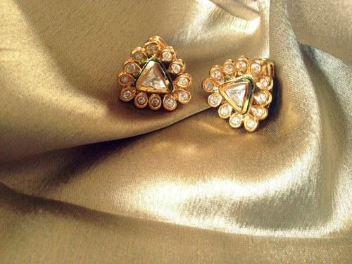 Nsh Jewellery Kundan Polki Diamond Stud