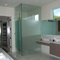 glass bathroom partition