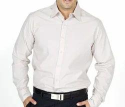 Full Sleeves Cotton Plain White Formal Shirt