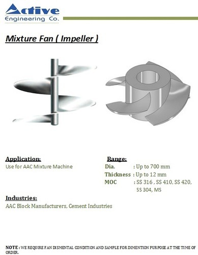 Mixer fan Impellers - Mixer Fan Impeller Manufacturer from